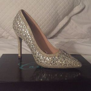 Prom Nude Shimmer shoes